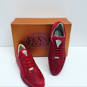 Fennix Italy  shoes crocodile/leather calf red